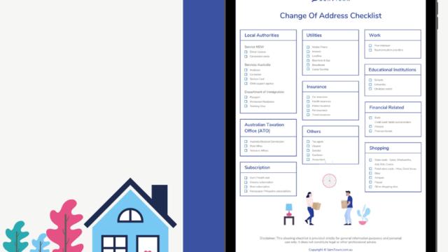 Change Of Address Checklist – Printable PDF